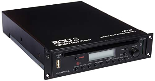 Rolls Rack Mountable CD/MP3 Player with XLR Output Connectors HR72X