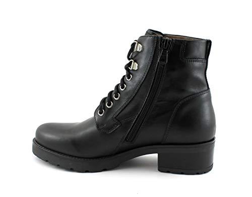 Botines Zapatos Nero Con 7051 Mujer Giardini Cordones De Negro aRzqHxZ