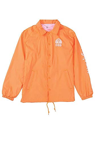 686 Men's Paradise Coaches Jacket, Orange, ()