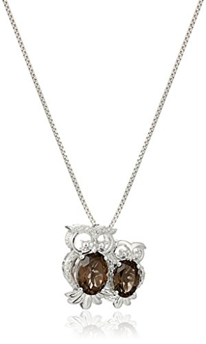xpy-sterling-silver-mother-and-baby-owls-smoky-quartz-with-diamond-accent-pendant-necklace-18