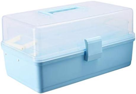 HXF- Pillendose PP 34 * 20.5 * 17cm Haushaltsmedizin Box Medizin Aufbewahrungsbox Robust (Color : Blue)
