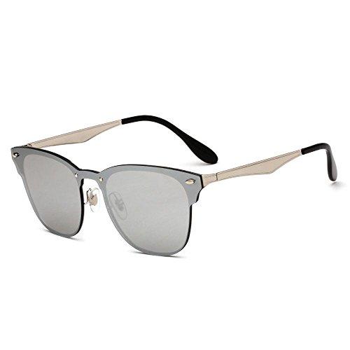 color Aoligei B película de remache gafas dazzle hombre Retro de gafas metal damas de sol sol Gafas de conjoined qBwUqrS0