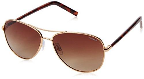Polaroid Sunglasses Pld4027s Polarized Aviator Sunglasses, Gold/Brown Polarized, 58 - Sunglasses Polaroid Aviator