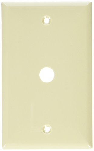 Morris 81630 Lexan Wall Plate for Cable, 1 Gang.406