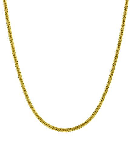 Pori Jewelers 925 Sterling Silver Italian Magic Snake Chain Necklace Strong and Durable-Lobster Claw Closure- Available in 16