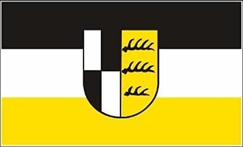 U24 Fahne Flagge Zollernalbkreis Bootsflagge Premiumqualit/ät 30 x 45 cm