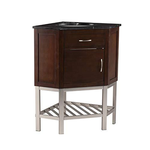 Southern Enterprises Karstark Corner Marble Top Bathroom Vanity