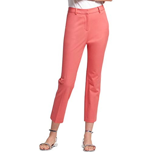 DKNY Womens Slim Low Rise Ankle Pants Pink 2 ()