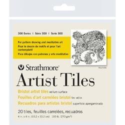 Bulk Buy: Strathmore (3-Pack) Artist Tiles 4in. x 4in. 20/Pkg Bristol Vellum - Artist 4x4 Tiles