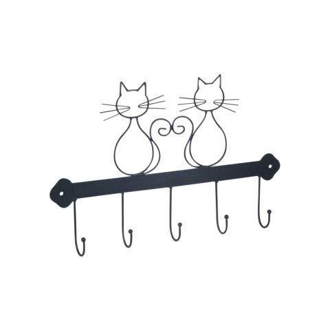 CAPRILO Percha Pared Decorativa de Metal Gatos. Percheros ...