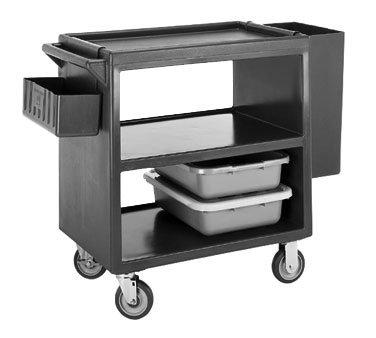 Cambro BC230157 Service Cart open design three shelves 500 lb. load coffee beige (Coffee Beige Service Cart)