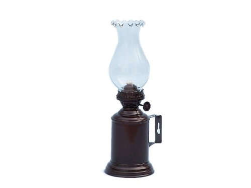 Hampton Nautical  Antique Copper Tavern Oil Lamp, 10