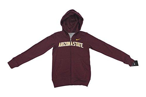 Nike NCAA Boy's Arizona Sun Devils School Sweat Shirt Jacket Hoodie