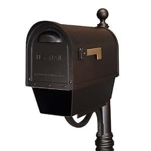 Classic Post montado buzón con soporte para periódico acabado: marrón