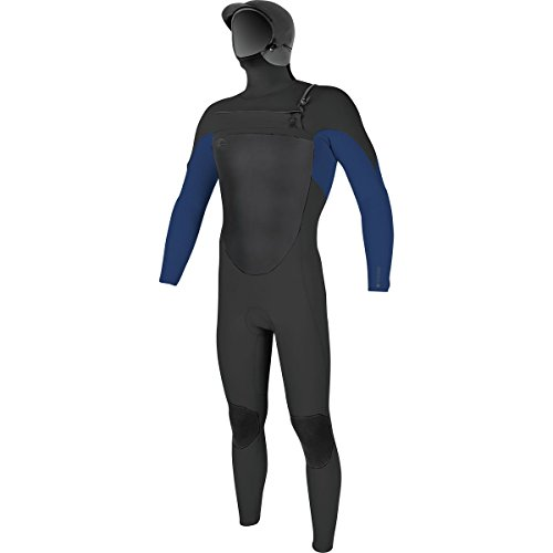 O'Neill Men's O'Riginal 5/4mm Chest Zip Full Wetsuit with Hood, Black/Navy, Medium