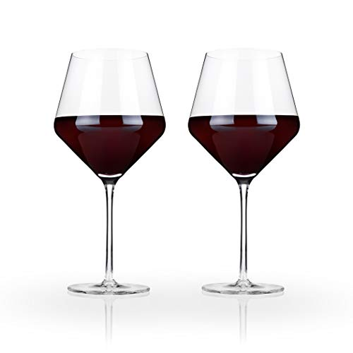 Raye Crystal Burgundy Wine Glass Set by Viski - (Set of 2, 21 oz.)