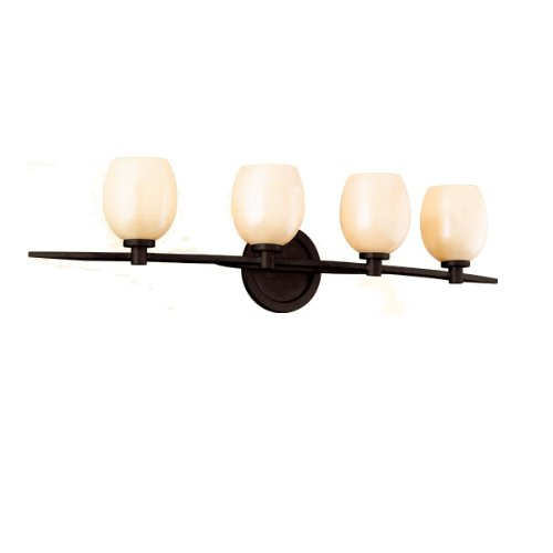 Corbett Lighting 84-64 Cirque 4-Light Bath Vanity, Brown Suede Finish with Antique Pearl Glass (Table Antique Forged Chandelier Iron)