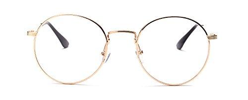 estilo B136 gafas de graduación Dorado retro Outray Montura cristales Metal sin ZAFIUq