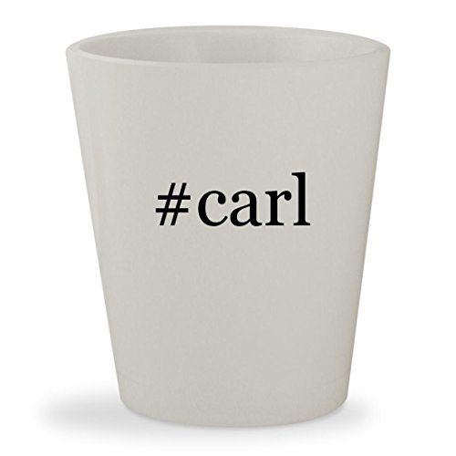 #carl - White Hashtag Ceramic 1.5oz Shot Glass
