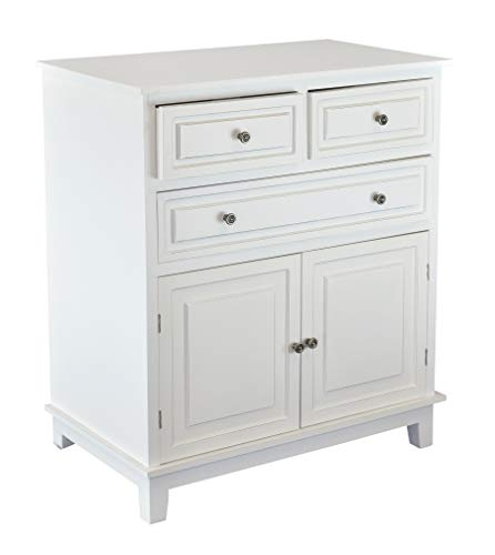 (Chest of Drawers White Dressers Side Cabinet Table for Bedroom Livingroom 33 in. 3-Drawers 2)