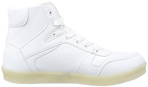 Nat-2 Geleid Basket Mannen Hoge Sneakers Wit (wit)