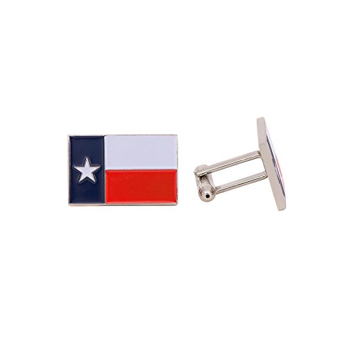 Desert Cactus Texas TX Rectangle State Flag Cufflinks Formal Wear Blazer for French Cuff Shirt Texan