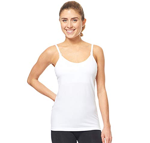 3 Pack 3 Style Clip-down Double Opening Maternity Nursing Tank Top and Cami Shirts Clothes For Mother's Breast Feeding, Multi (3 Pack-Large Size) by Under Control (Image #2)