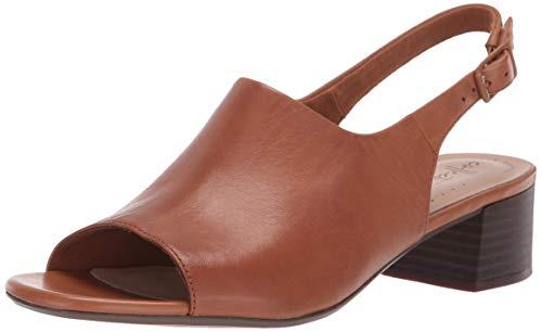 CLARKS Women's Elisa Kristie Heeled Sandal, tan Leather, 085 M US