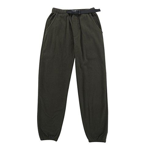 Krumba Men's Anti-Pilling Outdoor Micro-Fleece Zip Pants with Belt Size 2XL