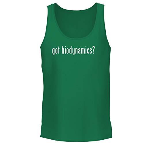 BH Cool Designs got Biodynamics? - Men's Graphic Tank Top, Green, Large