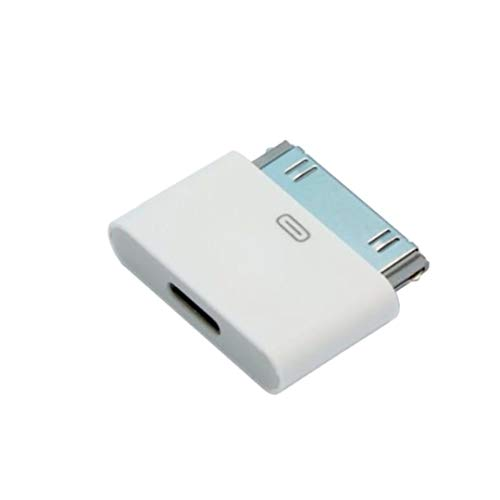 Keklle Lightning 8 Pin Female to 30 Pin Male Adapter Connector for iPhone, iPad and More (White)