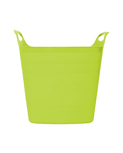 Flexi Tub Tragekorb Gartenkorb Wäschekorb Spielzeugeimer 15 Liter limette