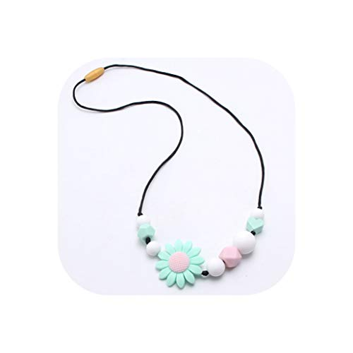 - Sunflower Silicone Teething Nursing Necklace Chewable Breastfeeding Jewelry for Mom Silicone Toy Shower Gift 1Pcs,1,APPR 60-70Cm