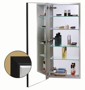 Stainless Steel Cabinet Body w/ White Frame Door and 170 Degree Hinge