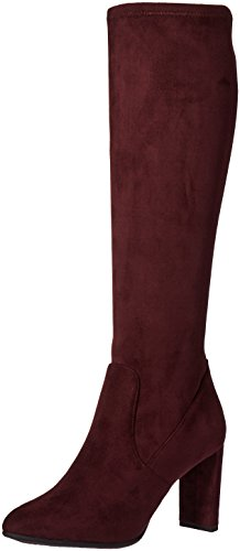 Nine West Women's Kellan Fabric Knee-High Boot,Wine, 6.5 M US