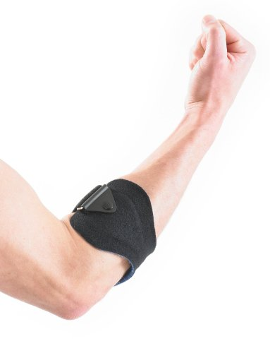 Neo G Tennis/Golf Clasp - Support For Epicondylitis, Tennis Golfers Elbow, Sprains, Strain Injuries, Tendonitis - Forearm Adjustable Compression Strap - Class 1 Medical Device - One Size -Black