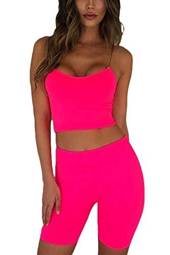 ALERDON Women's Sexy Front Zipper Long Sleeve Skinny Crop Top Shorts Two Piece Set Tracksuit (Large, Pants Set / -