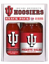 Indiana Hoosiers Hot Sauce (2 Pack INDIANA Hoosiers Snack Pack Hot Sauce Salsa)