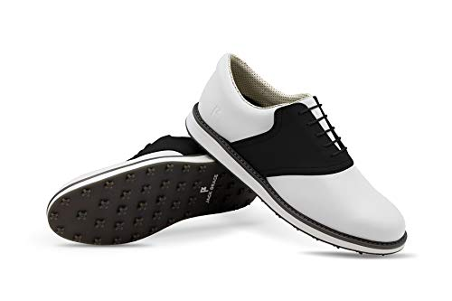 The Jack Grace Innovator Golf Shoe with Saddle Swap Interchangeable Colors That Change in Seconds to Match Any Look White