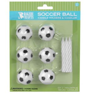 Oasis Supply Wax Soccer Ball Holder with Birthday -