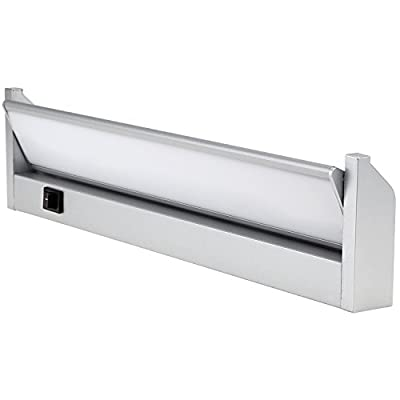 Multi-function LED Under Cabinet Lighting Fixture -Plug-In/Hard Wired - Angle Adjustable LED Mirror Light - Warm White - Toughened Glass Aluminum Housing 120° Beam Angle for Cabinet, Bathroom, Accent Lighting