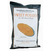 FoodShouldTasteGood Sweet Potato Tortilla Chips, 5.5-Ounce Bags (Pack of 12) ( Value Bulk Multi-pack) by Food Should Taste Good