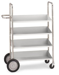 Charnstrom Four Shelf Medium Mobile Bin Cart (B153) by Charnstrom