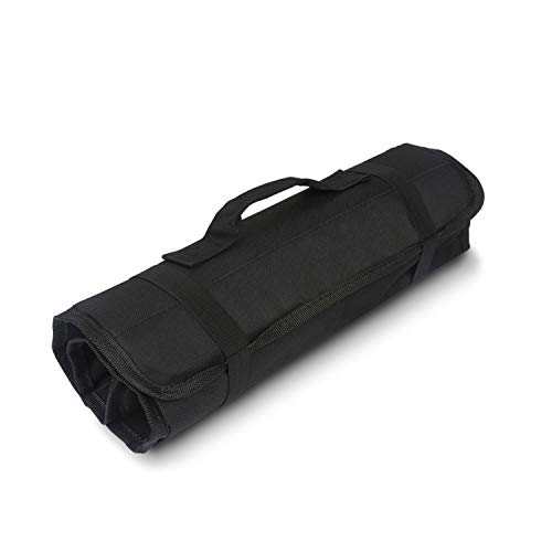 Tool Roll Up Bag by Extra-Perseverance - 22 Pockets Pouch Kit for for electricians, mechanics, handyman or any other professional (Black) by Extra-Perseverance (Image #1)