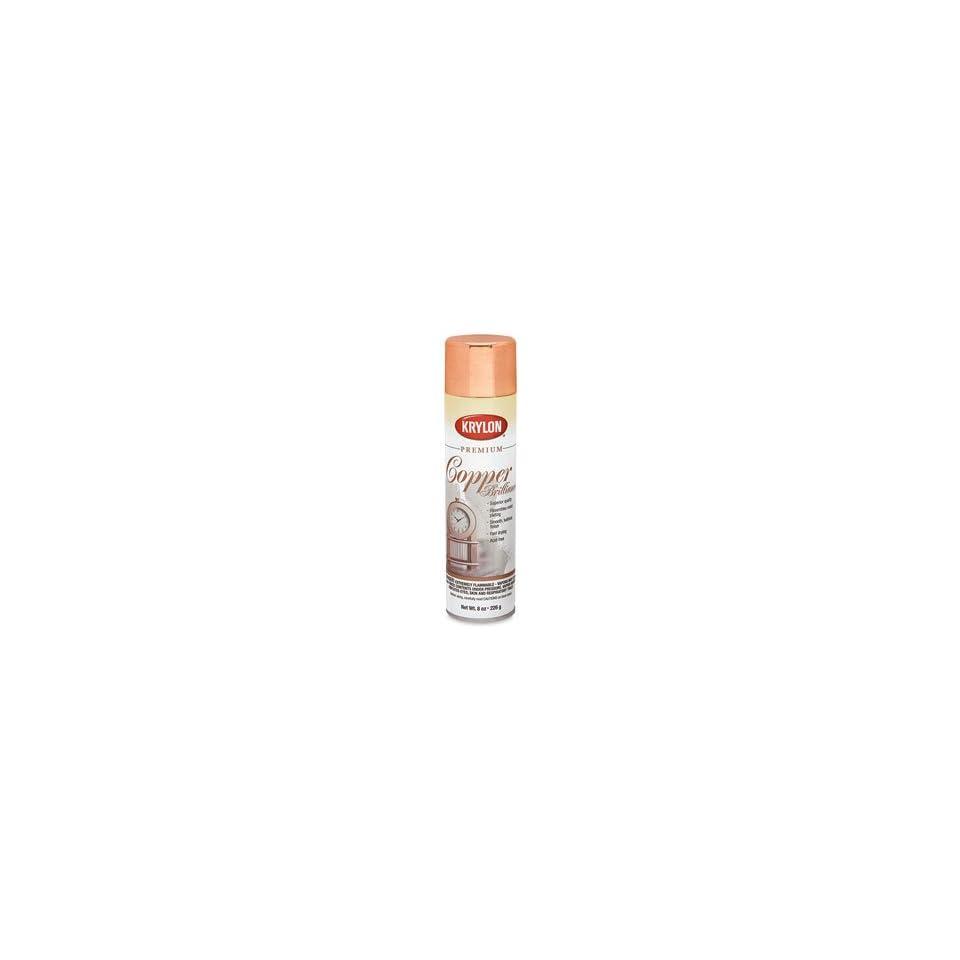 Krylon Premium Metallic Spray Paints   Copper Brilliance, 8 oz