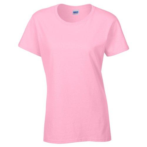 Gildan- Camiseta Missy de algodón grueso de manga corta para chica/mujer Cornsilk