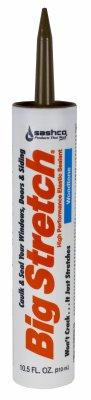 Acrylic Big Rubber Stretch (Sashco 10018 100 Percent Acrylic Latex Big Stretch High Performance Caulk, 10.5oz Cartridge, Woodtone (Case of 12))