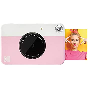 30321fbe1534 Kodak PRINTOMATIC Digital Instant Print Camera (Pink), Full Color Prints On  ZINK 2x3 Sticky-Backed Photo Paper - Print Memories Instantly