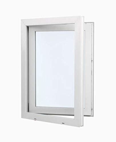 Resistente al sol Vidrio Opaco Climalit Abatible Ventana PVC 60 cm x 70 cm Alto aislamiento termico y acustico Apertura Izquierda Perfecta para cuarto de Ba/ño Oscilobatiente