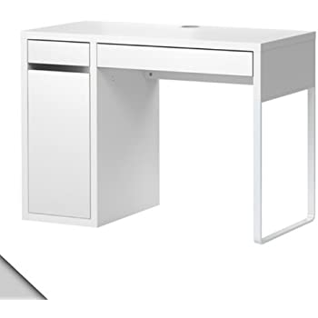 Bon Ikea Micke Desk White W/ Shelf Inside